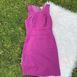 J Crew Factory purple sheath dress 2